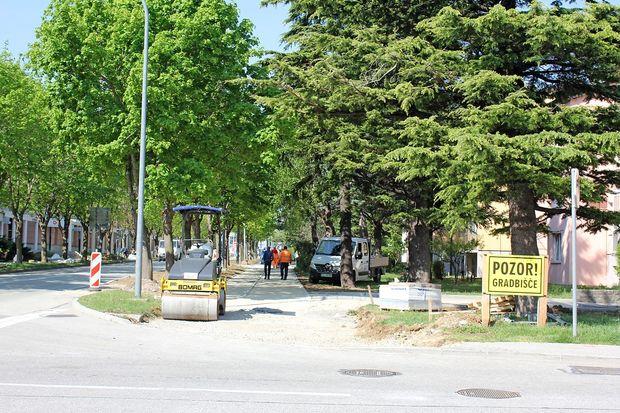 Goriška cesta bo ožja, da bi povečali varnost