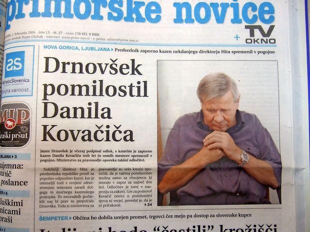 O čem so poročale Primorske novice prve dni februarja leta 2006