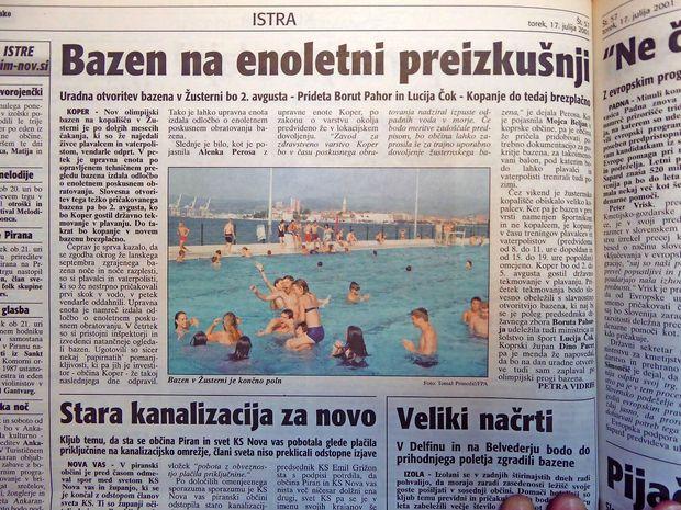 Končno odprli bazen v Žusterni