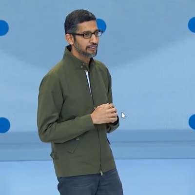 Direktor Googla Sundar Pichai med predstavitvijo storitve Google  Duplex v kalifornijskem Palo Altu Foto: youtube