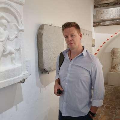 Gregor Pobežin,  raziskovalec antične zgodovine  Foto: Andraž Gombač