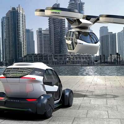 Električna prihodnost predvideva promet po tleh in v zraku ter  souporabo vsega - prostora, storitev, stavb, naprav, vozil.