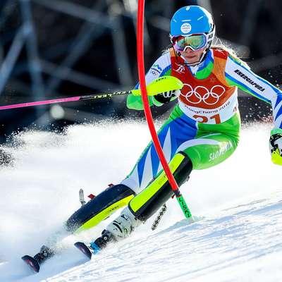 Najboljša Slovenka na tekmi je bila Ana Bucik, ki je smukaški del  končala na 15. mestu, na koncu pa je bila enajsta.  Foto: STA