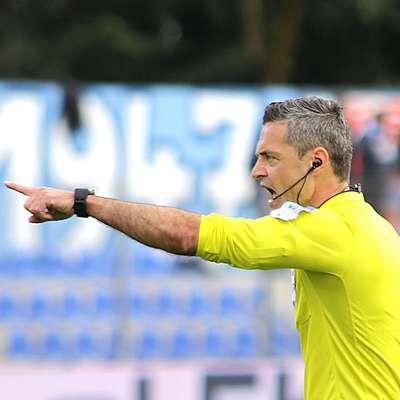Slovenskemu nogometnemu sodniku Damirju Skomini je pripadla  čast sojenja v finalu lige prvakov. Foto: Leo Caharija