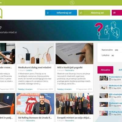 Nov portal mlad.si mladim ponuja zanje pomembne informacije  na enem spletnem mestu. Foto: mlad.si