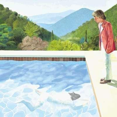Hockneyjev Portret umetnika prodali za rekordnih 90 milijonov dolarjev
