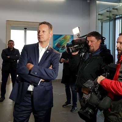 Boris Popovič je pred sejo izrazil pričakovanje, da bodo ugovoru  ugodili. Foto: Nataša Hlaj