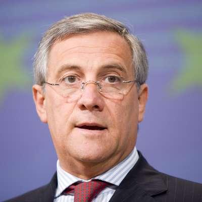 Predsednik Evropskega parlamenta Antonio Tajani znova razburja  s svojimi izjavami o fašizmu. Foto: STA