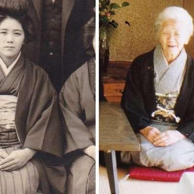 Kana Tanaka v mladosti in danes Foto: www.guinessworldrecords.com