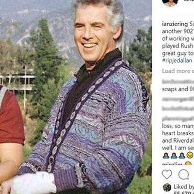 Le nekaj dni po smrti ameriškega igralca Luka Perrya, ki je zaslovel  v seriji Beverly Hills 90210, je v 85. letu starosti umrl Jed Allan, ki  je v isti seriji igral očeta Stevea Sandersa.