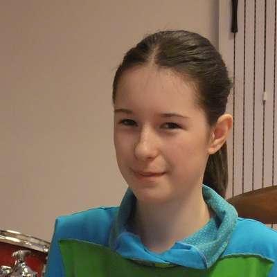 Mia Kristan najbolj uživa pri igranju melodičnih tolkal. Foto: osebni arhiv