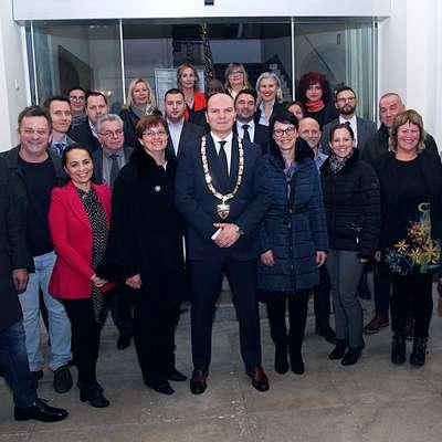 Župan Đenio Zadković in piranski občinski svetniki. Foto: Tomaž Primožič/FPA