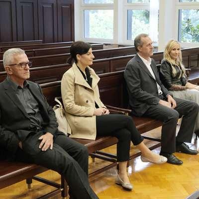 Z leve:  Janoš Butinar, Ana Rejec, Rok Uršič in Andrejka Štrukelj Foto: Leo Caharija