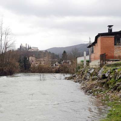 Montažni del le, ko bo grozila poplava