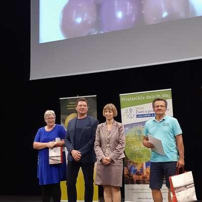 Z leve: Mirjana Klodič, koprski podžupan Peter Bolčič, sekretarka  na ministrstvu za kmetijstvo Tanja Strniša in Franjo Bošnjak  Foto: Saša Volk