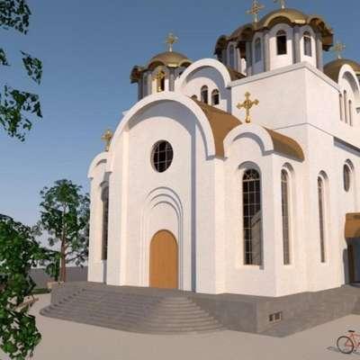 Takšna je računalniška vizualizacija bodoče pravoslavne cerkve v  Kopru.  Foto: Arhiv Pravoslavne cerkve Koper