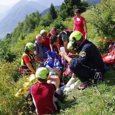 Največ intervencij so tolminski gorski reševalci imeli julija in  avgusta.  Foto: GRS Tolmin