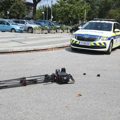 Prve ugotovitve iz televizijskega laboratorija kažejo, da je kamera uničena v celoti.  Foto: Pierluigi Bumbaca