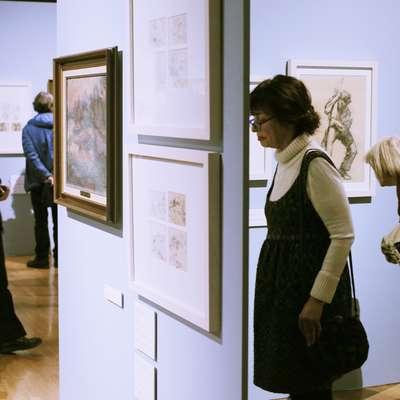 V Narodni galeriji hranijo Jakopičeve slike in risbe. Leta 2015 so pripravili  razstavo Beležnice.  Foto: STA