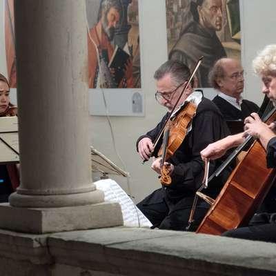 Na zaključnem koncertu je s pretanjenim muziciranjem navdušil  mednarodni kvartet Novalis.  Foto: Nataša Fajon