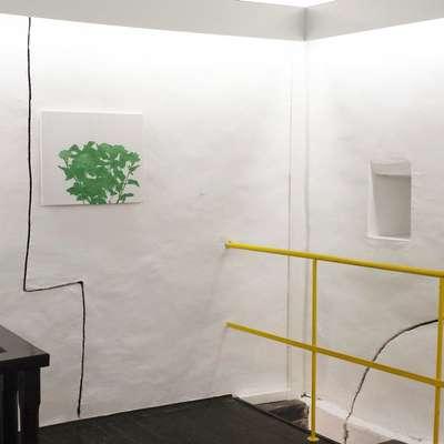 V Galeriji Rika Debenjaka je slikarka Nina Čelhar iz Pivke na ogled postavila izbor slik z motivi  hiš in narave. Foto: osebni arhiv Nine Čelhar