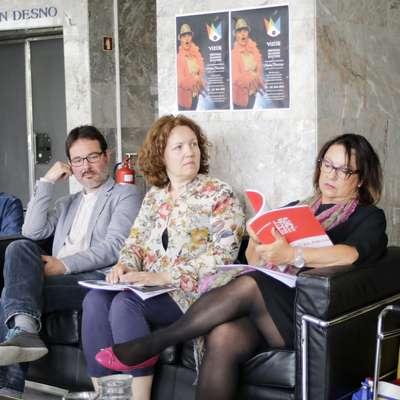 Vizije so predstavili (z leve) Andreja Koblar Perko, Miha Golob, Matjaž Šmalc, Sabina Volk Simčič, Maja Jerman  Bratec in Klavdija Kotar. Foto: Luka Carlevaris