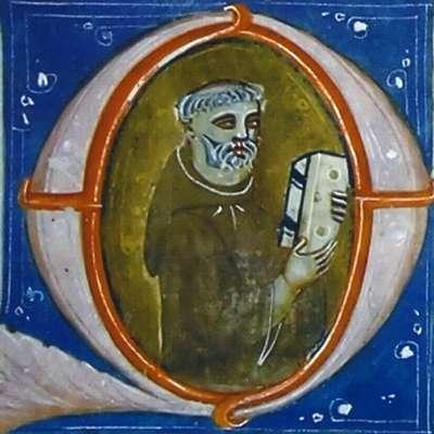 Monald je tako upodobljen v inicalki ilustriranega rokopisa, ki  ga hranijo v Padovi.