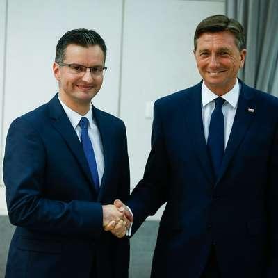 Po neuradnih izidih  se bosta v drugem krogu pomerila  aktualni predsednik Borut Pahor in njegov protikandidat,  kamniški župan  Marjan Šarec. Foto: ANZE MALOVRH/STA