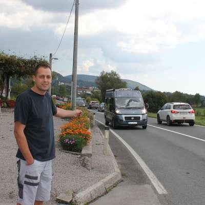 "Patrik Saftič: ""Takole imamo na cesti..."" Foto: Veronika Rupnik Ženko"