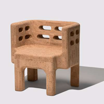 Stol iz naravne plute,  Kolekcija Sobreiro, Campana Brothers