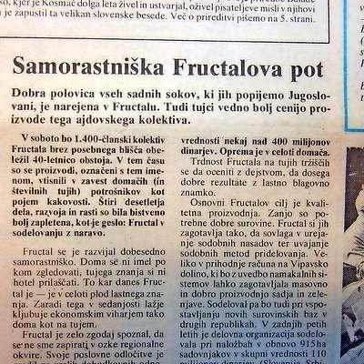 Fructalove sokove so radi pili po vsej Jugoslaviji.