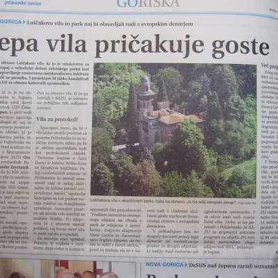 Na Goriškem so upali, da bodo propadajočo Laščakovo vilo na  Rafutu lahko obnovili z evropskim denarjem.