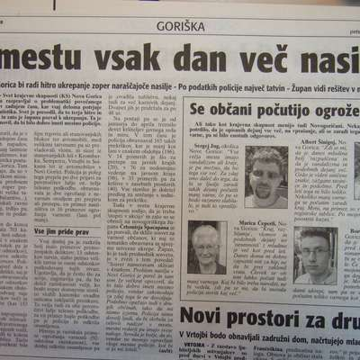 V Novi Gorici so želeli ukrepati zoper naraščajoče nasilje.
