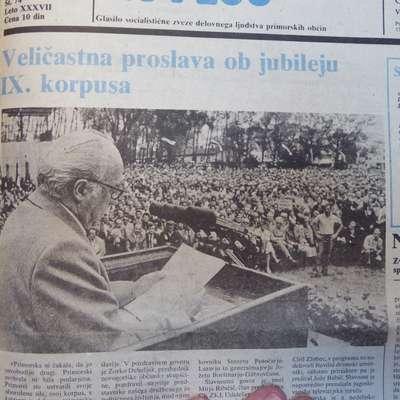 V Novi Gorici so slovesno obeležili 40. obletnico ustanovitve 9.  korpusa NOVJ.