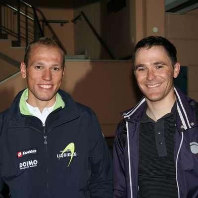 Primorska kolesarja Kristijan Koren (levo) in Borut Božič  bosta v novi sezoni združila moči  na klubski ravni. Foto: Igor Mušič
