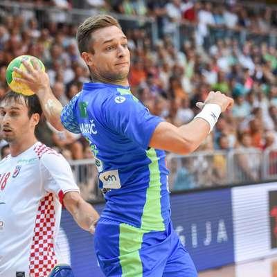 Gašper Marguč je bil   ob Blažu Jancu s štirimi zadetki najboljši strelec Slovenije na  sinočnji tekmi s Srbijo.  Foto: STA
