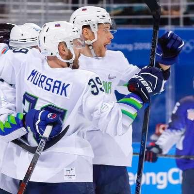 Slovenska hokejska reprezentanca je na OI v Pjongčangu do zdaj  prišla do dveh zmag.  Foto: STA