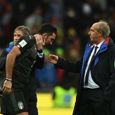 Zadnji reprezentančni pozdrav: Gian Piero Ventura (desno) in Gigi Buffon.