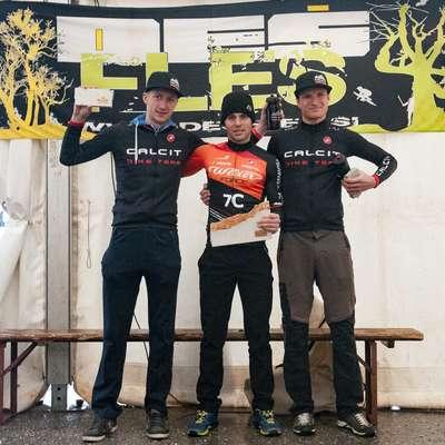 Najboljši na Kras Krosu: Gregor Krajnc, Diego Cargnelutti in Luka  Tavčar.     Foto: Tomaž Povodnik