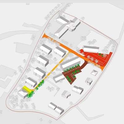 Središče Divače bo po ureditvi Ulice 1. maja in Ulice Stanka Volka bogatejše za 50 urejenih parkirnih  mest, pločnike, ekološka otoka, varne priključke na glavno cesto.    Foto: studio Aporia