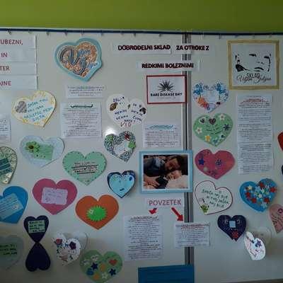 Razstava Srčnih pisem v izolski bolnišnici  Foto: arhiv SBI