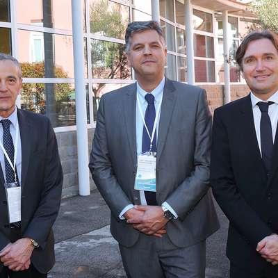 Glavnina organizacijskega odbora tečaja osteotomije (z leve): Radoslav Marčan, Ronald van Heerwaarden in Bogdan Ambrožič.   Foto: Zdravko Primožič/FPA