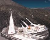 Predvidena podoba nordijskega centra s prve idejne rešitve -na levi je letalnica  Foto: Nc Planica