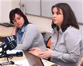 Olga Vargova (levo) iz slovaške agencije Job Service  in Ana Benčič iz izolske agencije ABF sta zavrnili vse očitke glede domnevnih nepravilnosti v pogodbah, ponujenih delavcem Žita v Mariboru